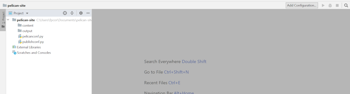 Directory showing two folders of content and output